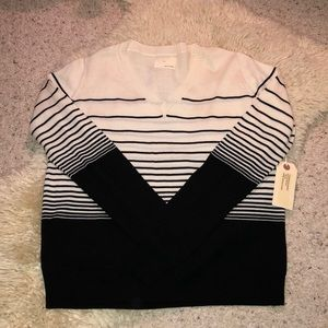 Merino Wool Boy Band of Outsiders V Neck Sweater S
